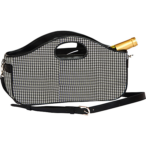 Picnic Plus Nola Wine Clutch - Houndstooth