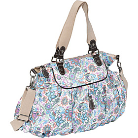 Indian Paisley Gathered Tote Blue/Orange/Pink/Green/White