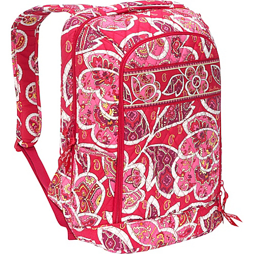 Vera Bradley Laptop Backpack – Rosy Posies – Rosy  9f215d10291a8