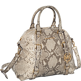 Bedford Large Bowling Satchel in Embossed Python Angora