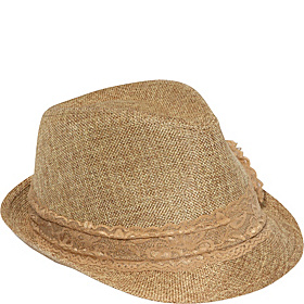 Lace Band Fedora Camel