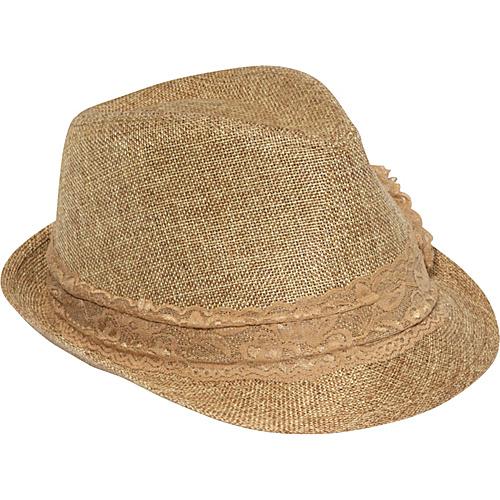 Magid Lace Band Fedora Camel - Magid Hats