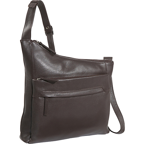 Derek Alexander NS Angled Top Zip - Brown