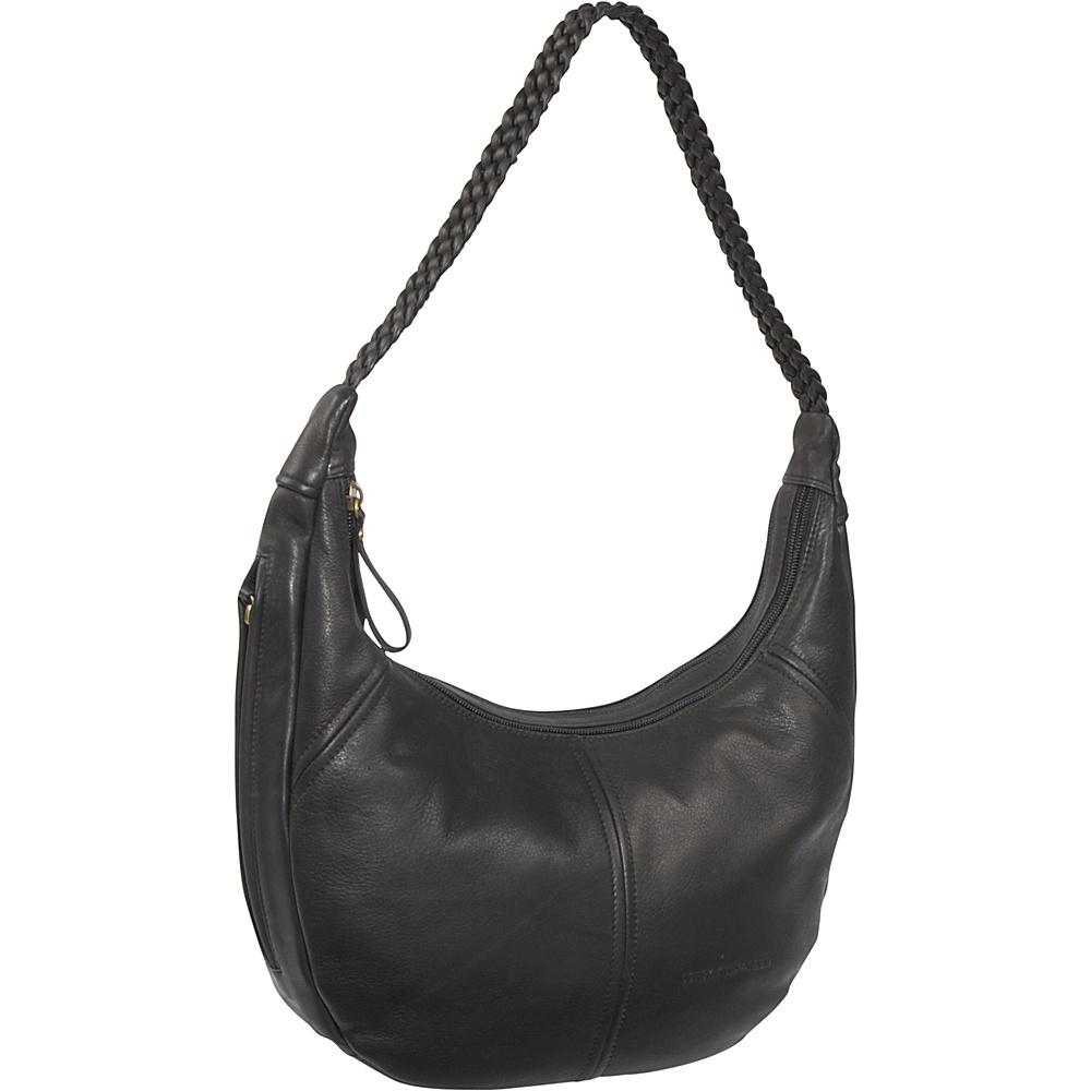 Derek Alexander EW 2 Compartment Top Zip - Black - Handbags, Leather Handbags