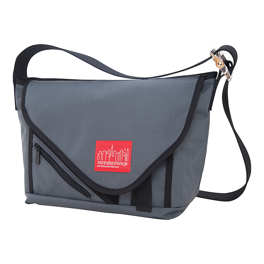 Manhattan Portage Flat Iron Messenger (SM) Grey, Grey, Black - Manhattan Portage Messenger Bags - Work Bags & Briefcases, Messenger Bags