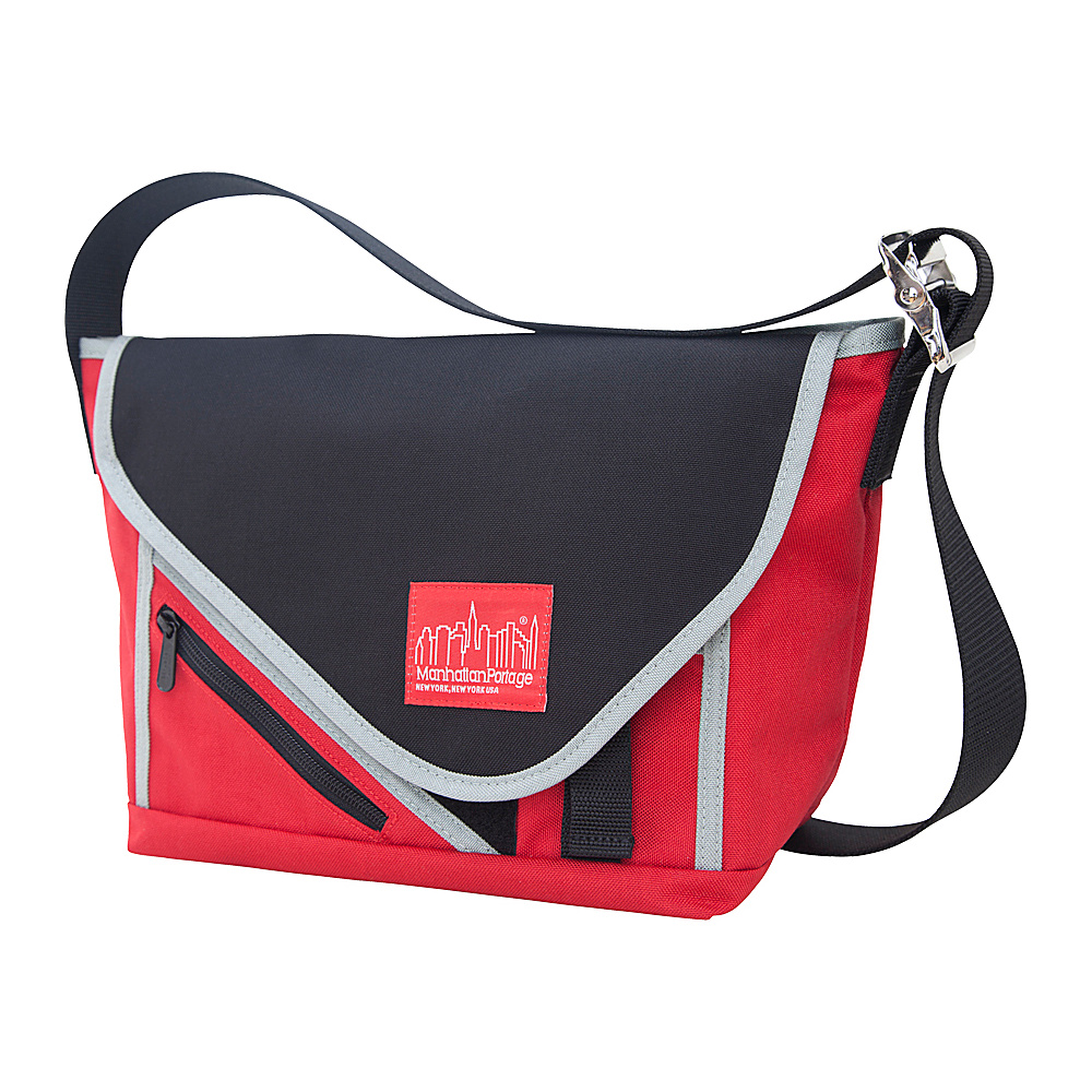 Manhattan Portage Flat Iron Messenger (SM) - Red, - Work Bags & Briefcases, Messenger Bags