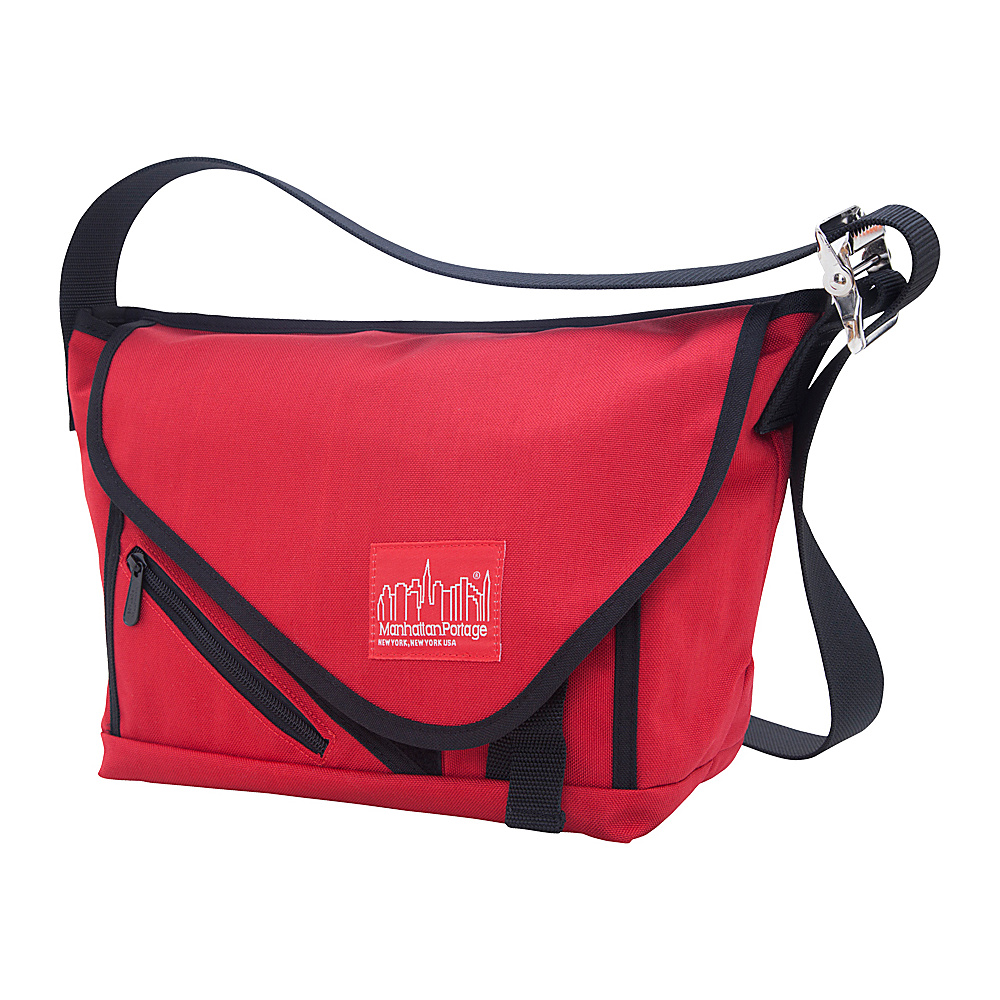 Manhattan Portage Flat Iron Messenger (SM) Red, Red, Black - Manhattan Portage Messenger Bags - Work Bags & Briefcases, Messenger Bags