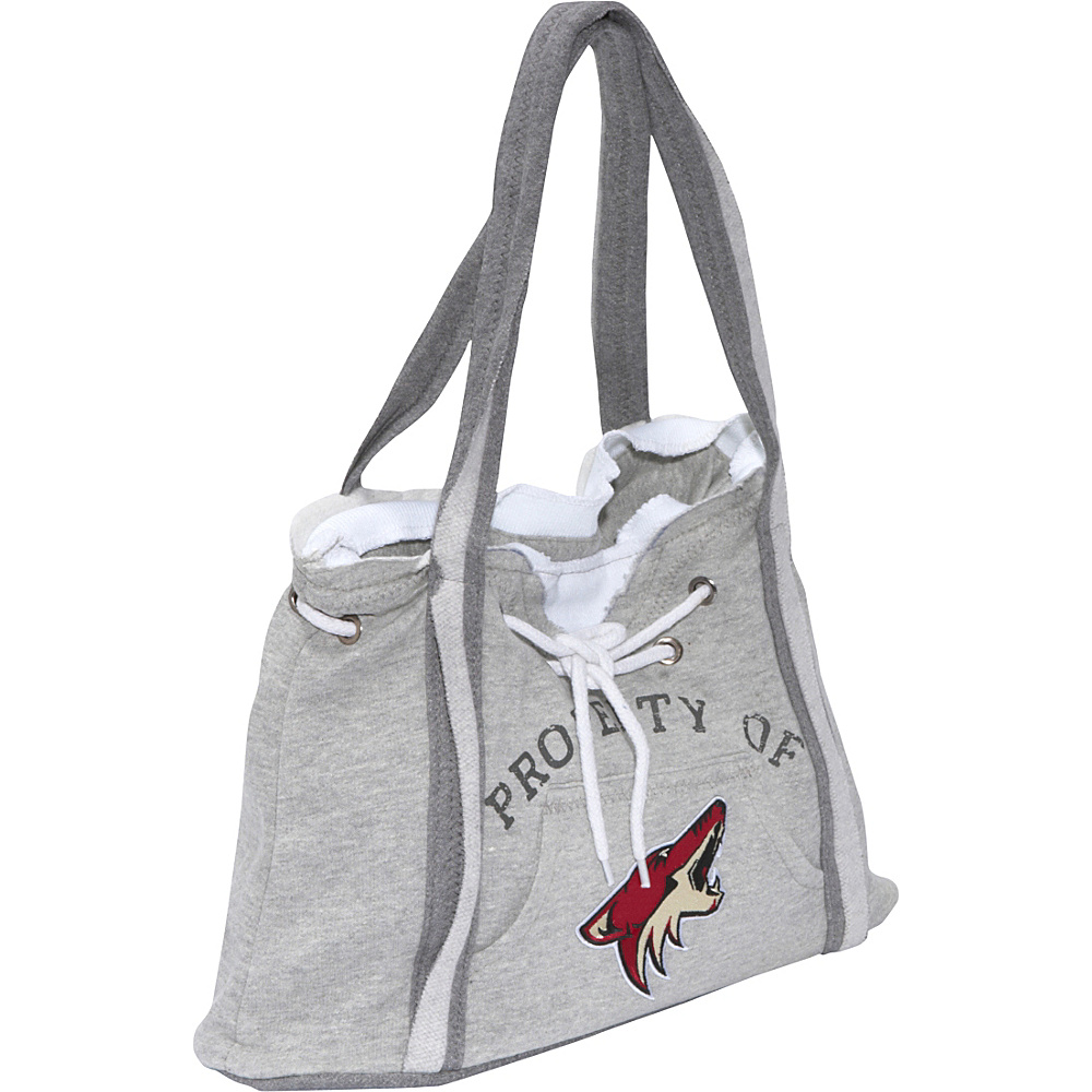 Littlearth NHL Hoodie Purse Grey/Phoenix Coyotes Phoenix Coyotes - Littlearth Fabric Handbags - Handbags, Fabric Handbags