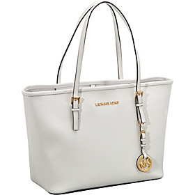 Jet Set Travel SM Travel Tote - Saffiano Optic White