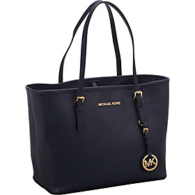 Jet Set Travel SM Travel Tote - Saffiano Navy