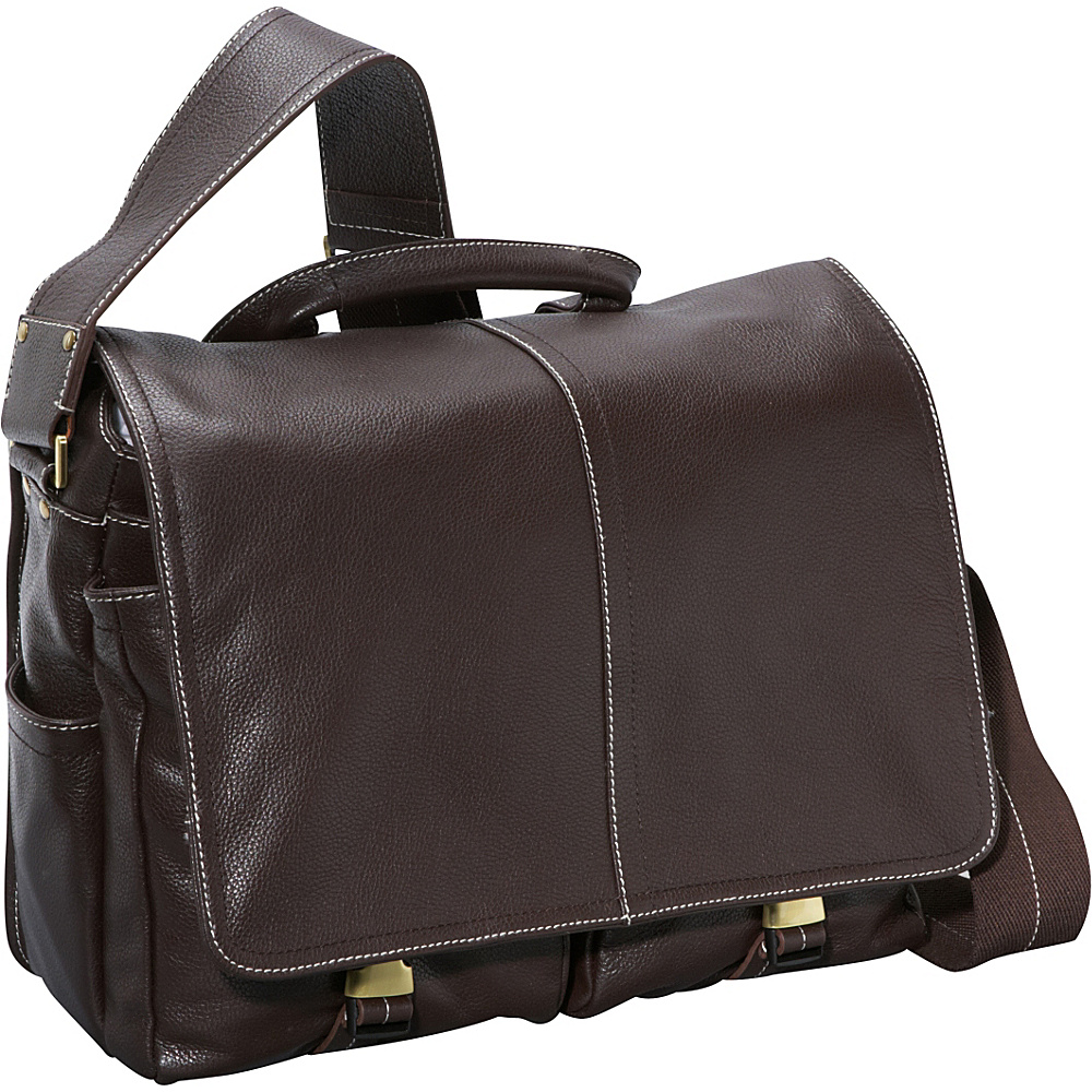 AmeriLeather Legacy Leather Woody Laptop Messenger Bag Waxy Brown - AmeriLeather Messenger Bags - Work Bags & Briefcases, Messenger Bags