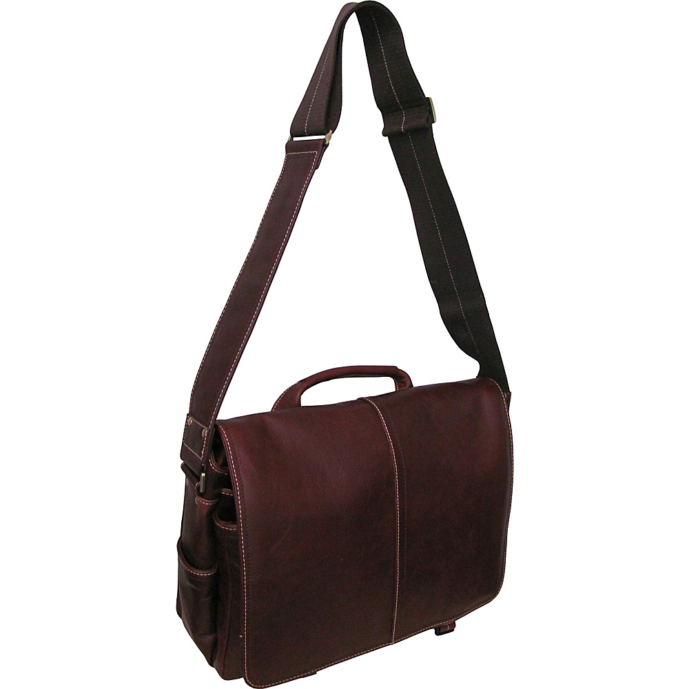 AmeriLeather Legacy Leather Woody Laptop Messenger Bag Bordeaux - AmeriLeather Messenger Bags - Work Bags & Briefcases, Messenger Bags