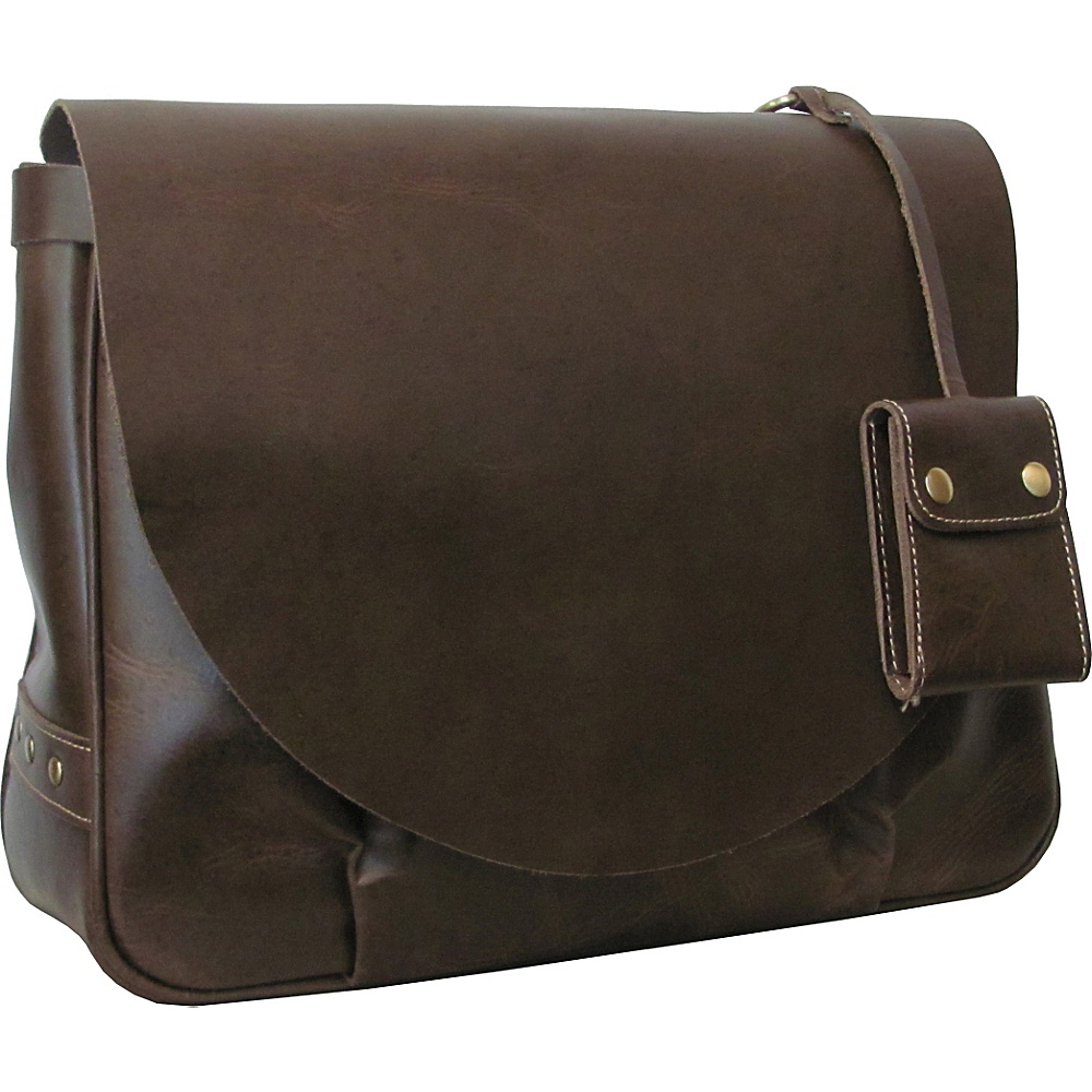 AmeriLeather Vintage Leather Messenger Bag Dark Brown - AmeriLeather Messenger Bags - Work Bags & Briefcases, Messenger Bags
