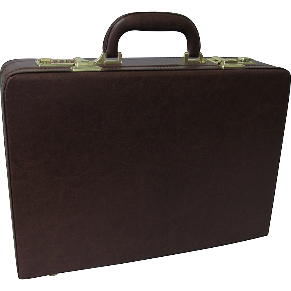 AmeriLeather Expandable Executive Faux Leather Attache - Work Bags & Briefcases, Non-Wheeled Business Cases