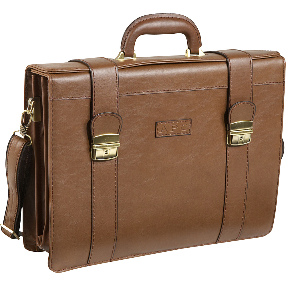 AmeriLeather Ambassador Attache Case Toffee - AmeriLeather Non-Wheeled Business Cases - Work Bags & Briefcases, Non-Wheeled Business Cases