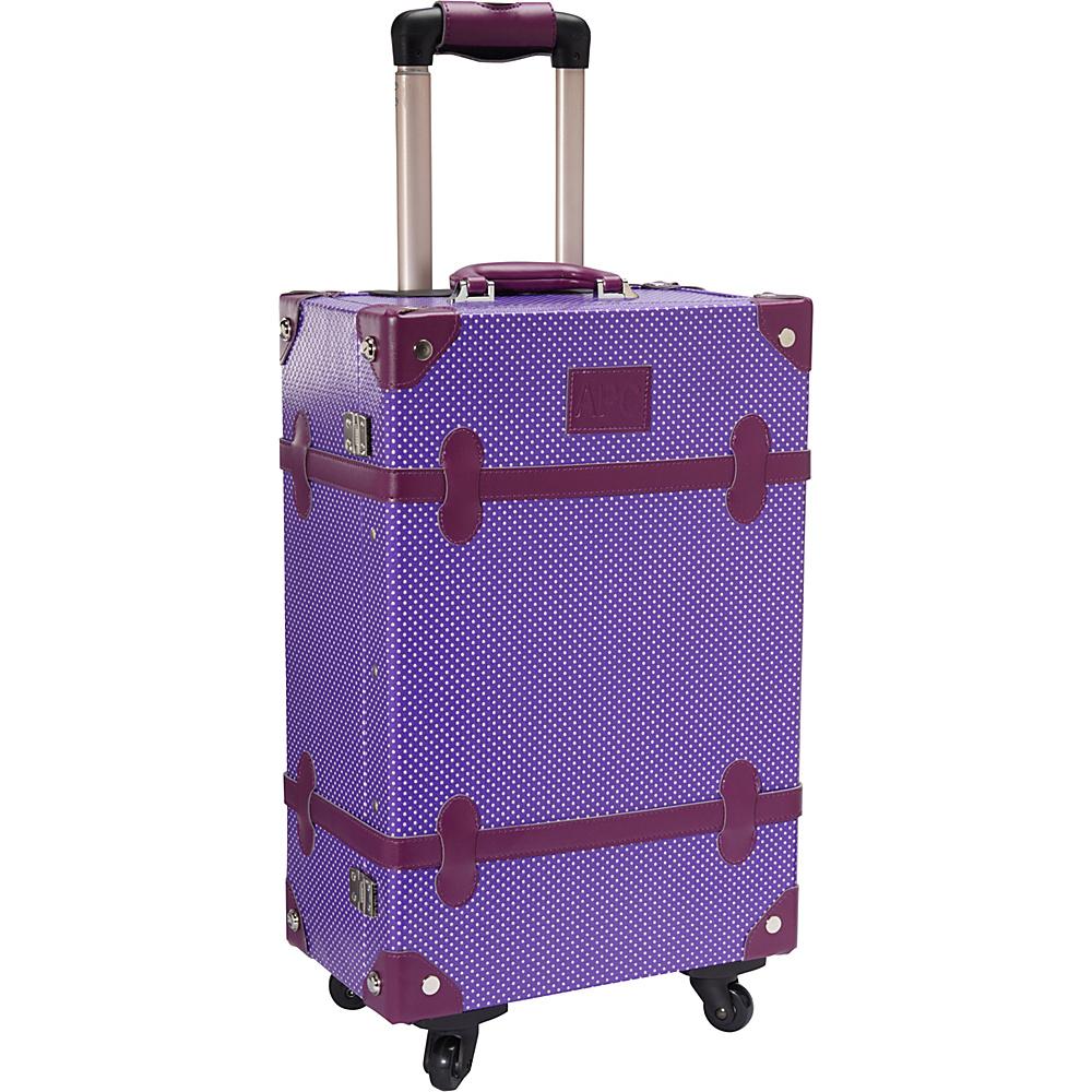 AmeriLeather Old Fashioned Chest Styled 24 Hardside Rolling Upright Violet - AmeriLeather Hardside Checked - Luggage, Hardside Checked