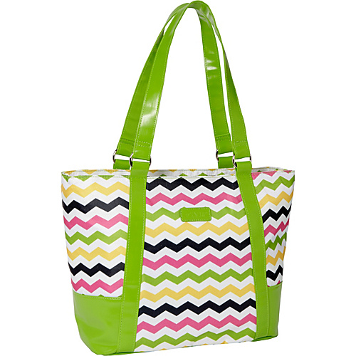 Sachi Insulated Lunch Bags Style 154 Lunch Bag Multi Color Chevron - Sachi Insulated Lunch Bags Travel Coolers