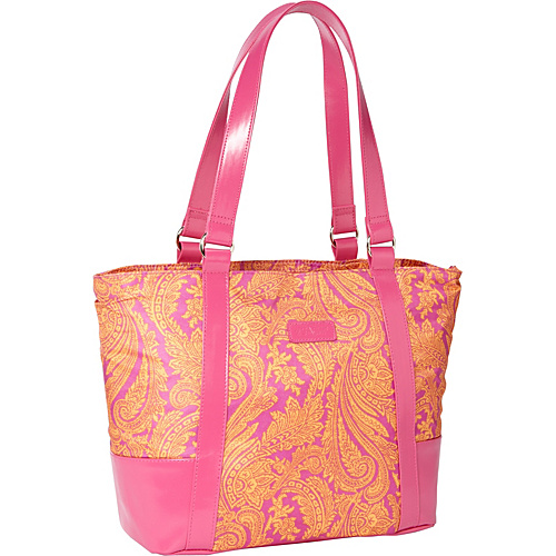 Sachi Insulated Lunch Bags Style 154 Lunch Bag Pink Paisley - Sachi Insulated Lunch Bags Travel Coolers