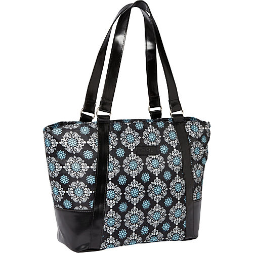 Black Solid with Black-Blue Medallion - $21.99