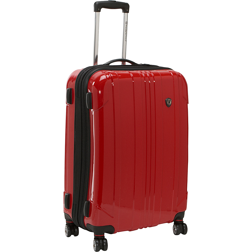 Travelers Choice Sedona 25 in. Hardside Spinner - Red - Luggage, Hardside Checked