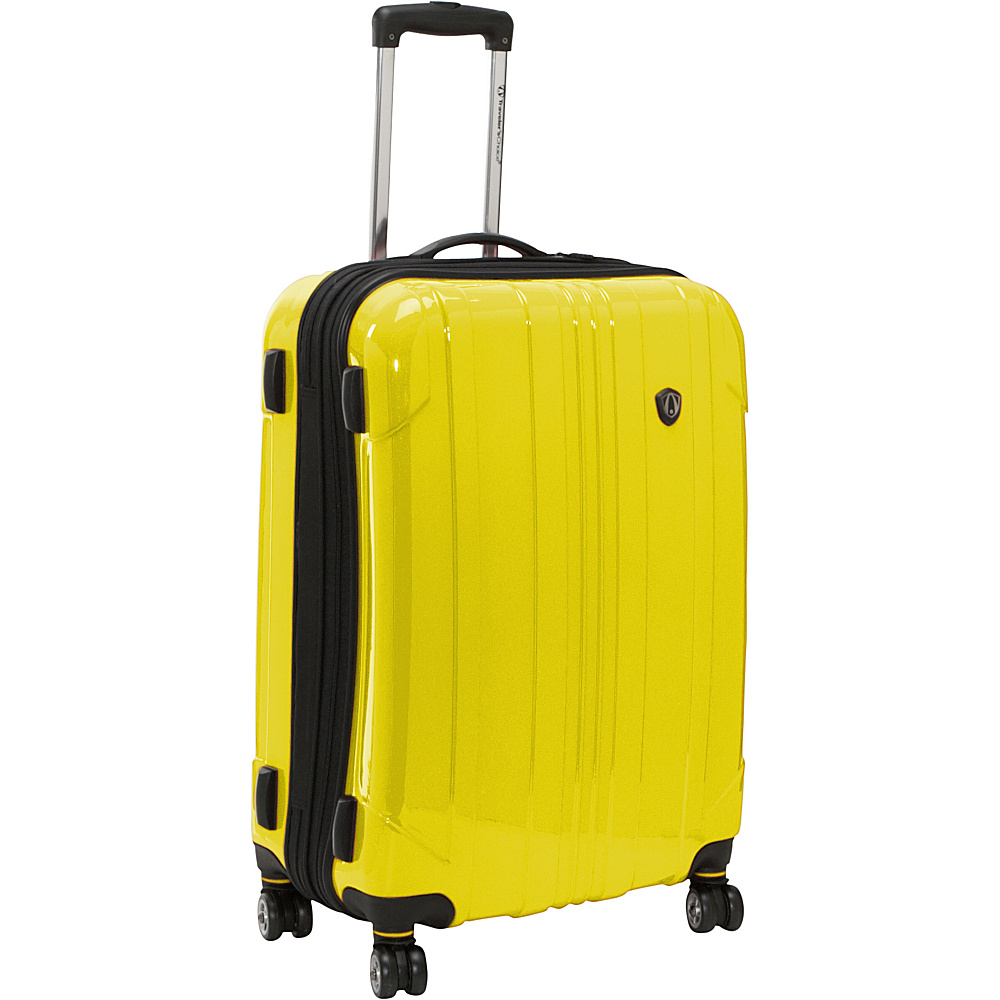 Travelers Choice Sedona 25 in. Hardside Spinner Yellow - Travelers Choice Hardside Checked - Luggage, Hardside Checked