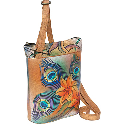 Anuschka Two Sided Zip Travel Organizer - Peacock Lily