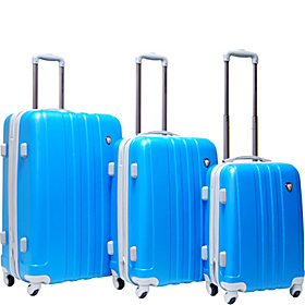 Lombardi 3 Piece Exp. Hardside Luggage Set Turquoise