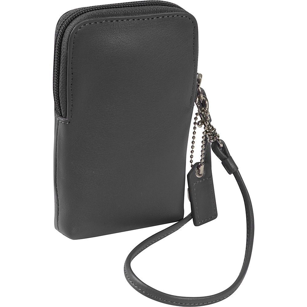 Royce Leather Smart Phone Camera Wristlet - Black - Technology, Electronic Cases