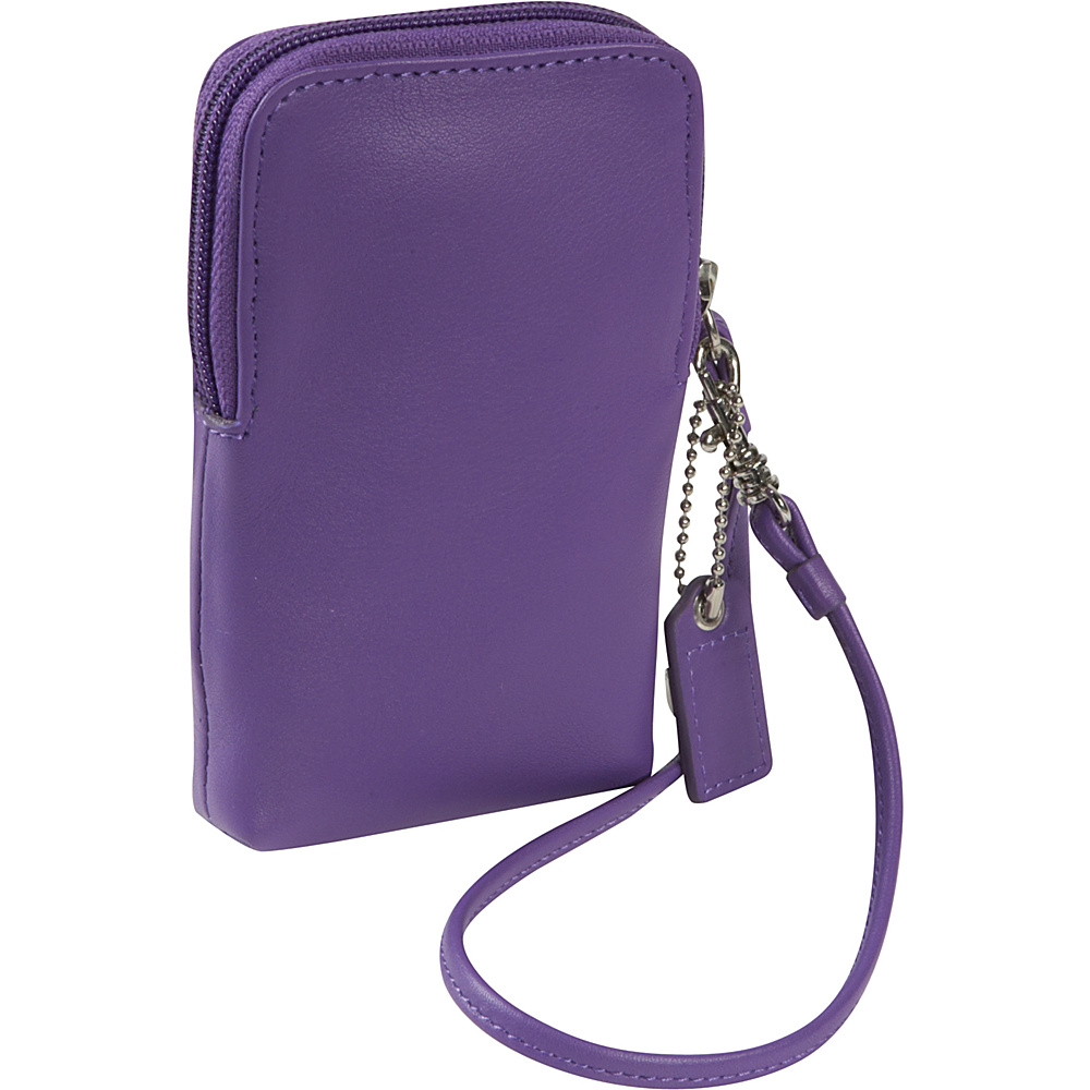 Royce Leather Smart Phone Camera Wristlet - Purple - Technology, Electronic Cases