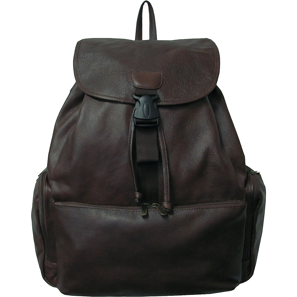 AmeriLeather Jumbo Leather Backpack - Dark Brown - Backpacks, Everyday Backpacks