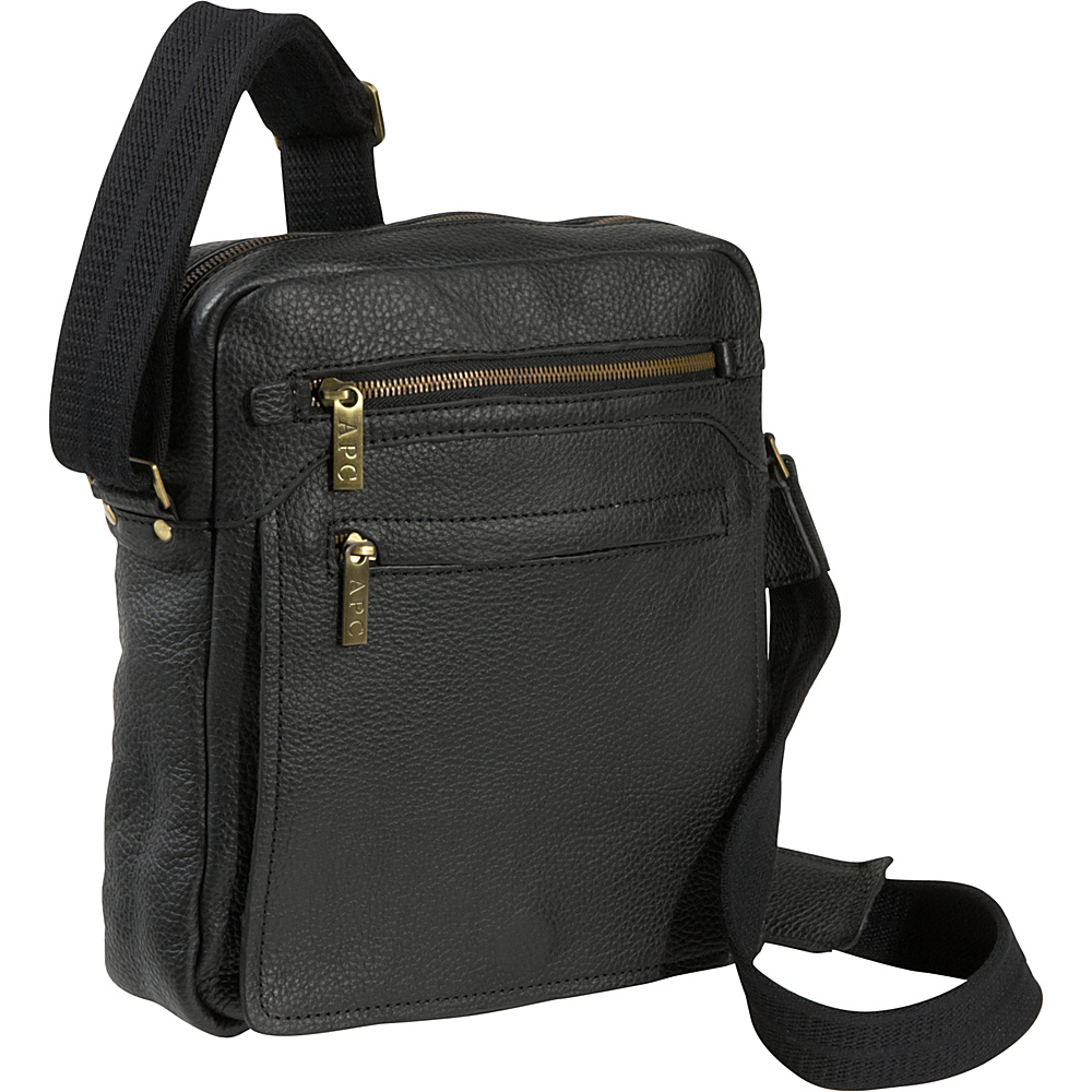 AmeriLeather Front Flap Messenger Bag - Black - Work Bags & Briefcases, Other Men's Bags