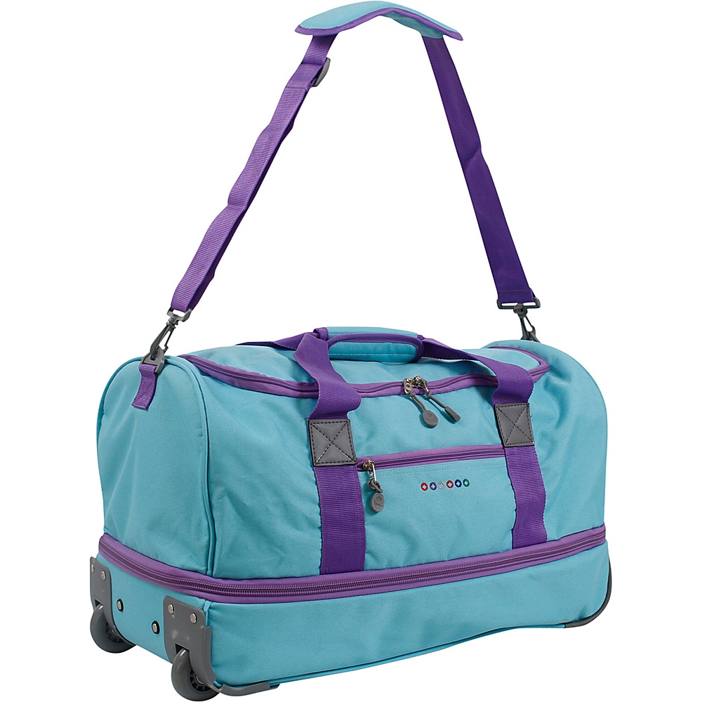 J World New York Stadium 21 Rolling Duffel Seafoam J World New York Softside Carry On