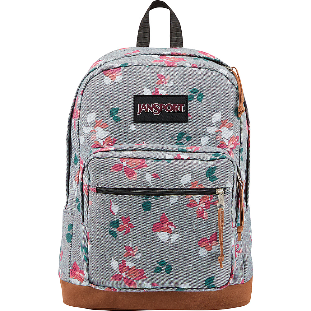 JanSport Right Pack Expressions Chambray Sweet Blossome - JanSport Business & Laptop Backpacks