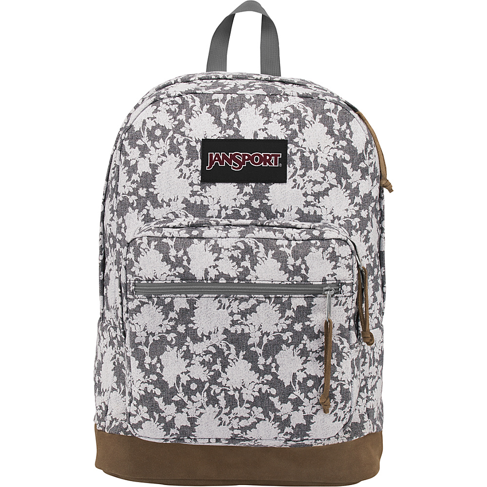 JanSport Right Pack Expressions Grey Heathered Floral - JanSport Business & Laptop Backpacks