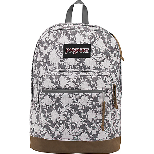 JanSport Right Pack Expressions Backpack Coral Sparkle/Yllow Glow/Floral Chambray - Backpacks, Laptop Backpacks