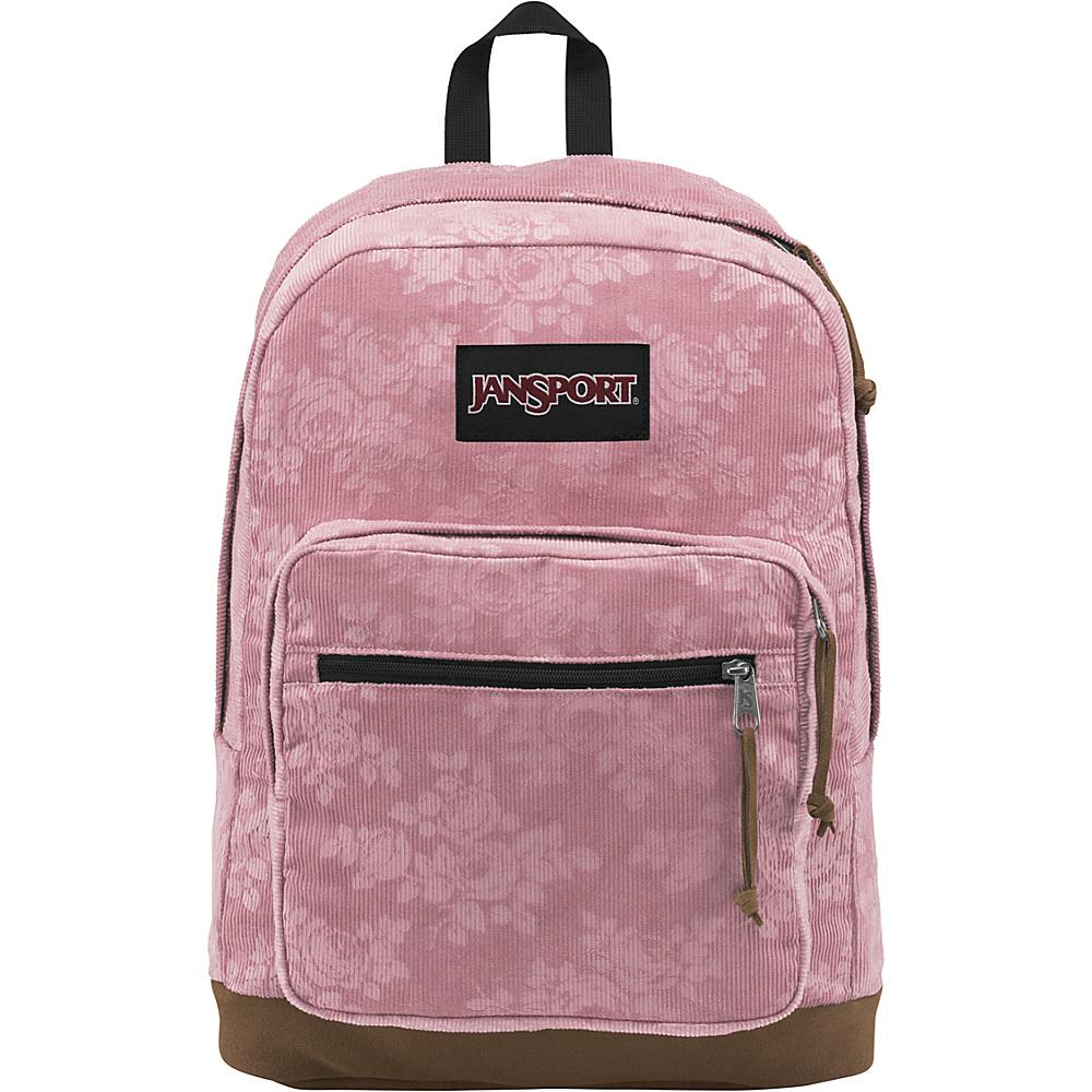 JanSport Right Pack Expressions Vintage Pink Rose Corduroy - JanSport Business & Laptop Backpacks