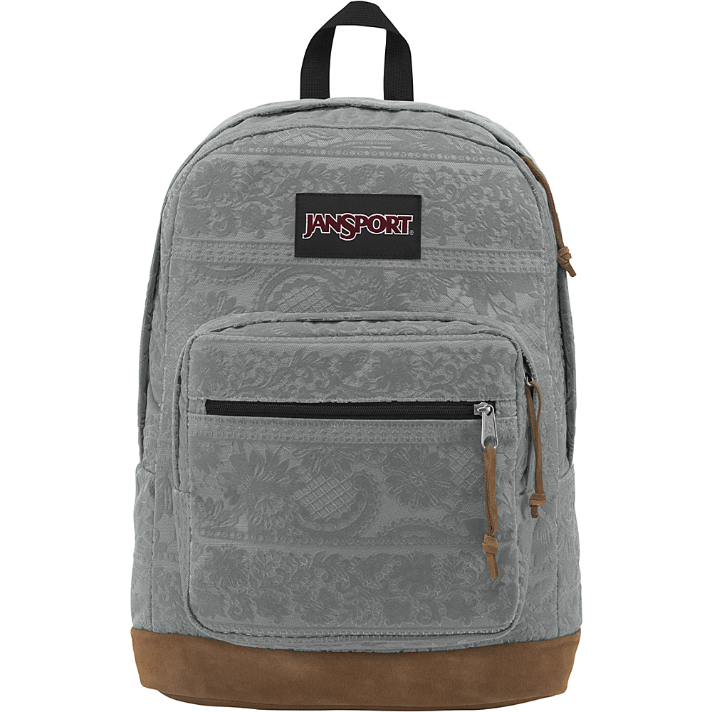 JanSport Right Pack Expressions Shady Grey Lace Flock - JanSport Business & Laptop Backpacks