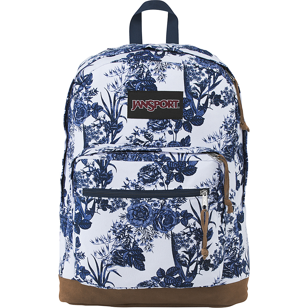 JanSport Right Pack Expressions White Artist Rose - JanSport Business & Laptop Backpacks