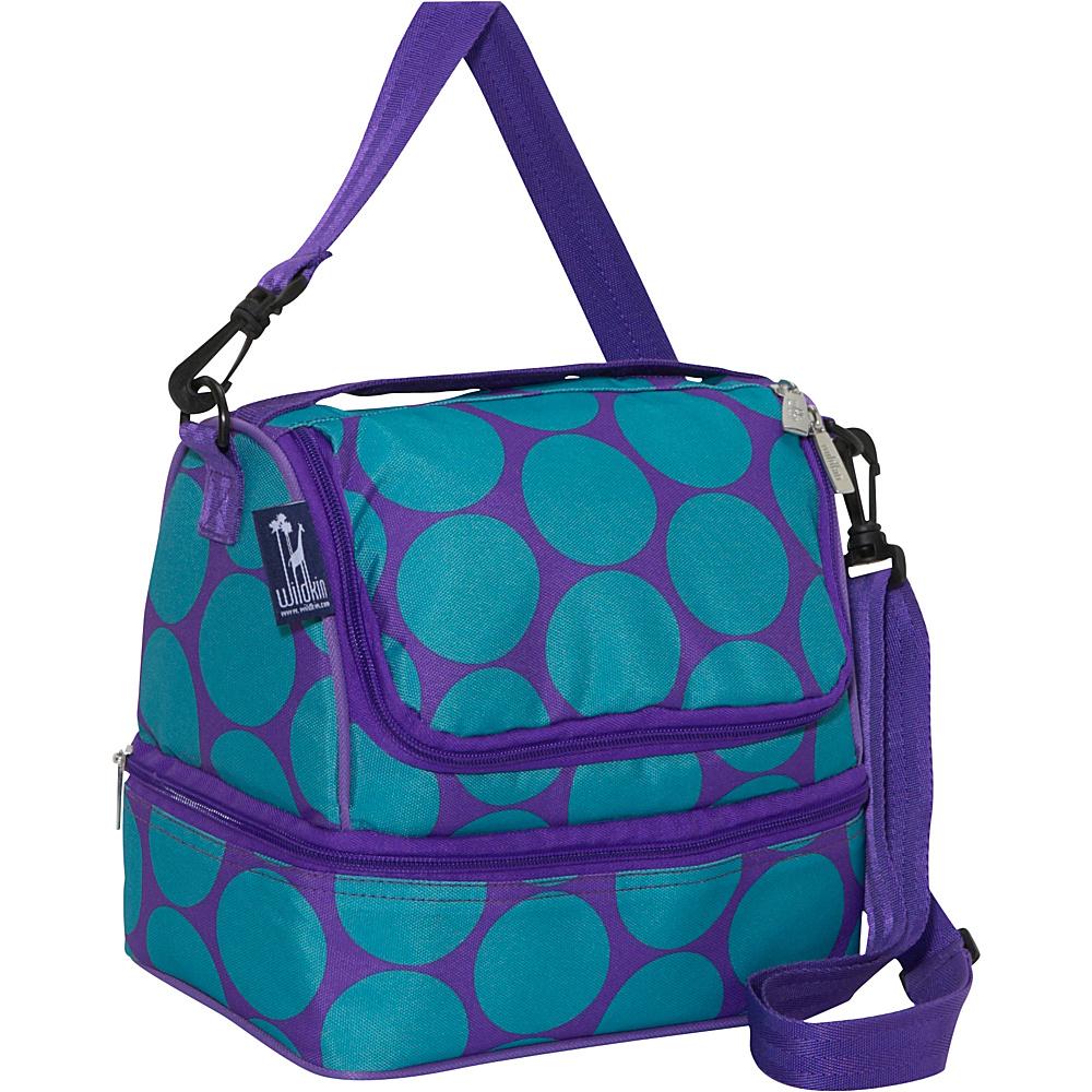 Wildkin Big Dots Aqua Double Decker Lunch Bag - Big - Travel Accessories, Travel Coolers