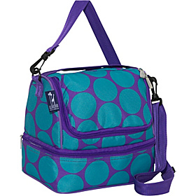 Big Dots Aqua Double Decker Lunch Bag Big Dots Aqua