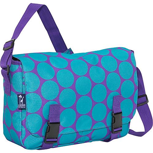 Wildkin Big Dots Aqua Jumpstart Messenger Bag Big Dots Aqua - Wildkin Messenger Bags