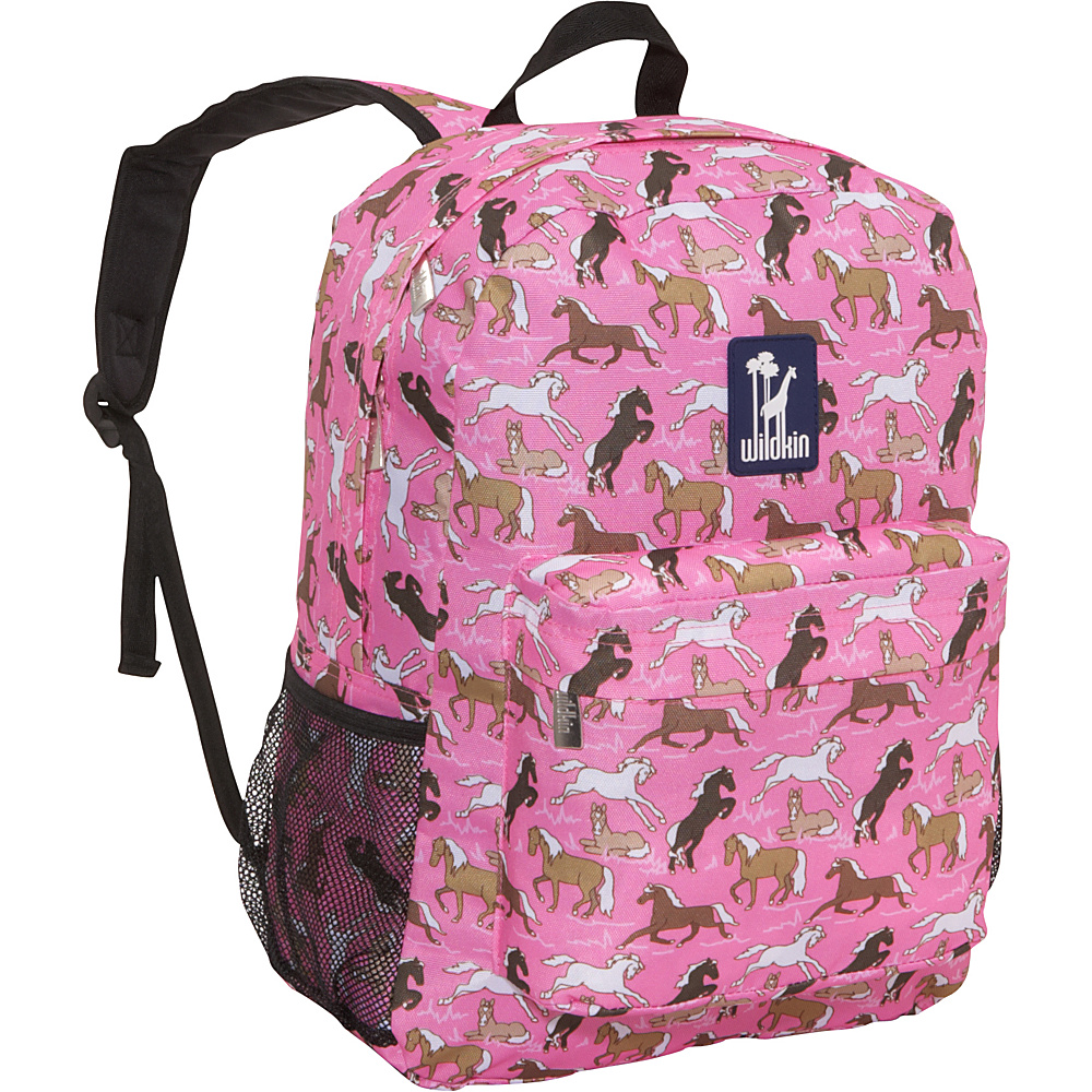 Wildkin Horses in Pink 16 Inch Backpack Horses in Pink - Wildkin Everyday Backpacks