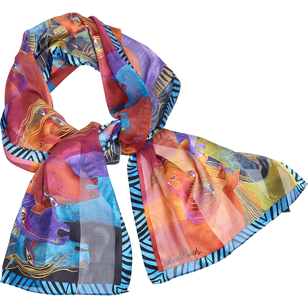 Laurel Burch Wild Horses of Fire Silk Scarf Wild Horses of Fire - Laurel Burch Hats/Gloves/Scarves