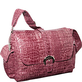 Crocodile Buckle Diaper Bag Crocodile Wine