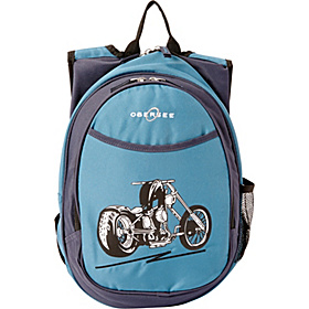 O3 Kids Pre-School Motorcycle Backpack with Integrated Lunch Cooler Blue Motorcycle