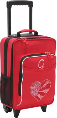 Obersee Kids Flag Heart 16 inch Upright Carry-On Flag Heart - Obersee Softside Carry-On