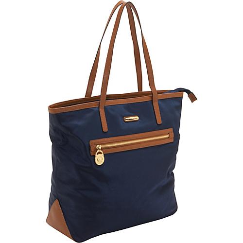 MICHAEL Michael Kors Kempton Large NS Tote Bag Navy - MICHAEL Michael Kors Designer Handbags
