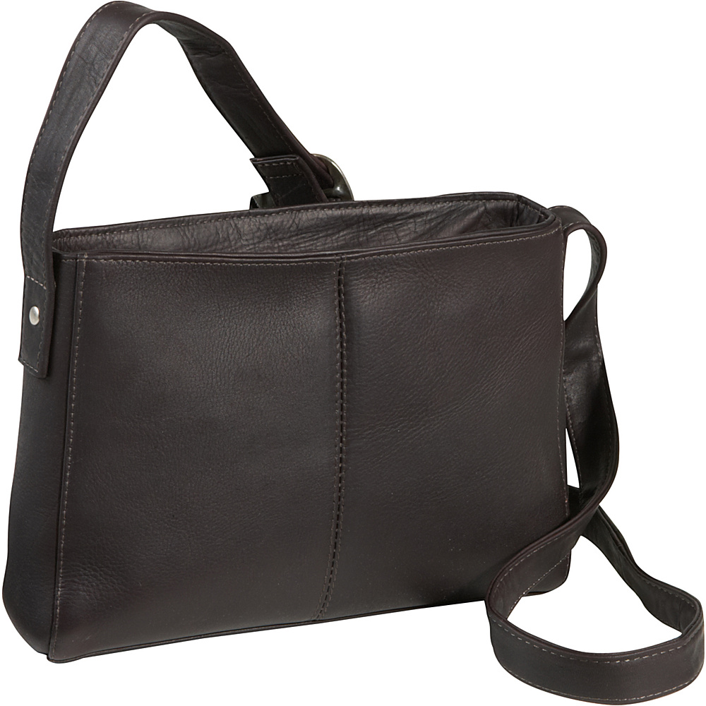 Le Donne Leather Top Zip Crossbody Bag - Caf - Handbags, Leather Handbags