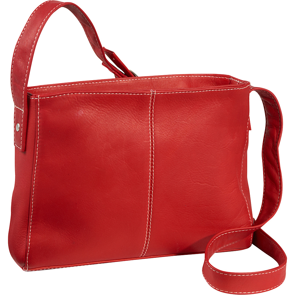 Le Donne Leather Top Zip Crossbody Bag - Red - Handbags, Leather Handbags