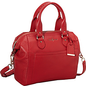 Linley Small Structured Satchel Tango Red